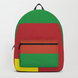 Very squared and precise and rectangular. Very very angular crafted shapes. Nothing else to say. Backpack
