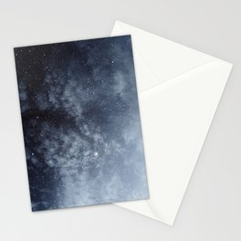 Blue veiled moon Stationery Cards