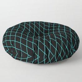 Sly Fox Blue Floor Pillow