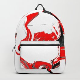 contradiction abstract digital painting Backpack