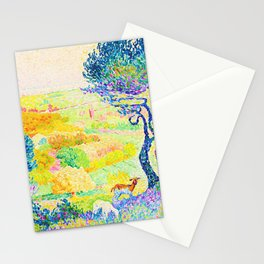 Henri Edmond Cross -The Full Of Bormes - Digital Remastered Edition Stationery Cards