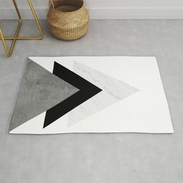 Arrows Monochrome Collage Rug