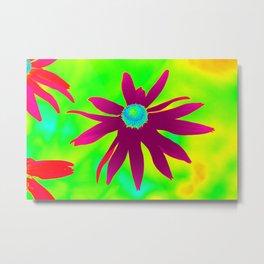 Multicolor purple daisy digital art photo Metal Print