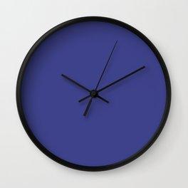 PANTONE ROYAL BLUE Deep Ultramarine solid color Wall Clock