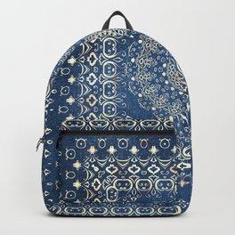 Old Bookshop Magic Mandala in Blue Backpack