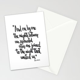 Neruda's nights Stationery Cards