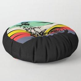 Motocross Girl Motocross Machine Motorcycle Floor Pillow