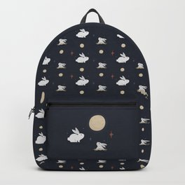 Bunnies on the Moon (Patterns Please) Backpack