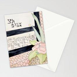Tel Aviv Travel Poster Stationery Cards