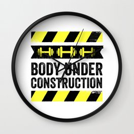 Body Under Construction Wall Clock
