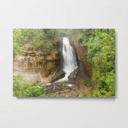Miners Falls - Pictured Rocks Waterfall, Michigan Metal Print