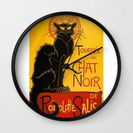 Vintage Le Chat Noir Paris Black Cat Cabaret Wall Clock