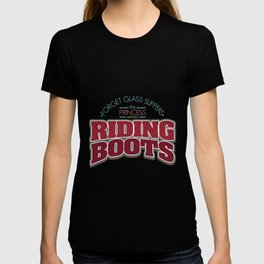 Girl Is Wearing Riding Boots design | Horsewoman Rider Tee T-shirt