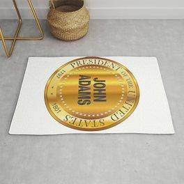 John Adams Gold Metal Stamp Rug