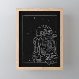 """R2-D2 White"" by Maggie Stephenson Framed Mini Art Print"