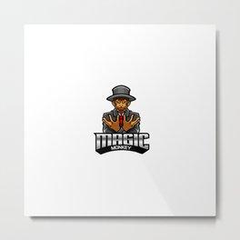 Magic Monkey Esport Mascot Logo Metal Print