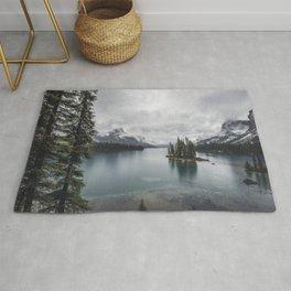 Maligne Lake Jasper Alberta Rug