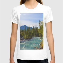 Maligne River & Pyramid Mountain in Jasper National Park, Canada T-shirt
