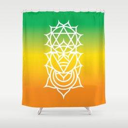 Sacral, Solar Plexus & Heart Chakra Intersection Shower Curtain