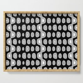 Black and white circles pattern background Serving Tray