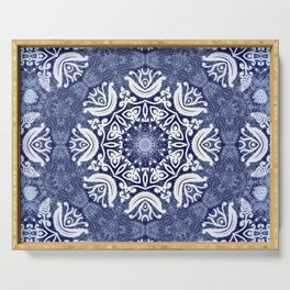 Blue snow pattern Serving Tray