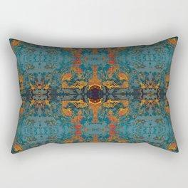 The Spindles- Blue and Orange Filigree  Rectangular Pillow