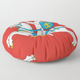 State Flag of Lithuania Knight On Red Floor Pillow