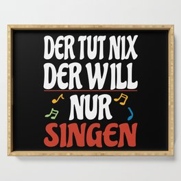 Choir Singer Lover Gift Idea Design Motif Serving Tray