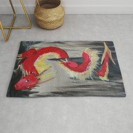 Fire Cavern Dragon Rug
