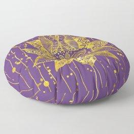 Gold Lotus flower and OM symbol Floor Pillow