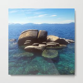 """Floating Rocks"" At Breathtakingly Blue Lake Tahoe, California Metal Print"