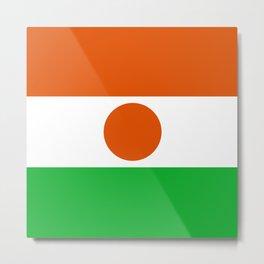 Flag: Niger Metal Print