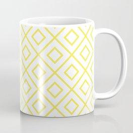Yellow Diamond Pattern 2 Coffee Mug