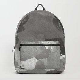 Pantone Pewter Gray Splatters Watercolor Camo Pattern Backpack