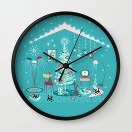 Retro Holiday Decorating Wall Clock