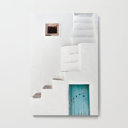 Minimalist Greek Architecture, Sifnos island Metal Print