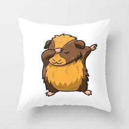 Dabbing Guinea Pig Shirt Hamster Cavy Dab Pet Gift Throw Pillow