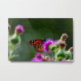 brush stroke digital artwork of monarch butterfly Metal Print