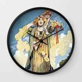 """""""Summer"""" by Charles Robinson Wall Clock"""