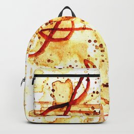 Coffee stains and music notes Backpack