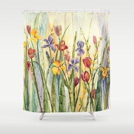 Spring Medley Flowers Shower Curtain
