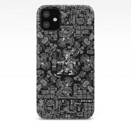 Mayan Spring B&W II iPhone Case