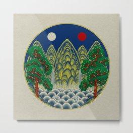 Sun, Moon and 5 peaks: King's painting Type A (Minhwa-Korean traditional/folk art) Metal Print