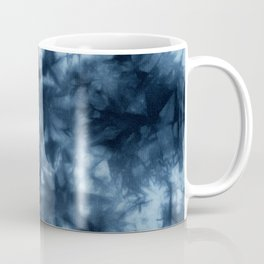 Dark Midnight Blue Boho Tie Dye Pattern Coffee Mug