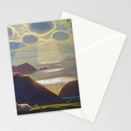 Rays of Sun off the Sea Cliffs Sturrall Donegal, Ireland by Rockwell Kent Stationery Cards