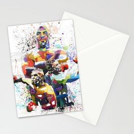 Mike Tyson Boxing poster, Boxing Dad Gift, Man Cave Print, Boys Room Decor Contemporary Stationery Cards