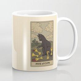 Five of Cups Coffee Mug