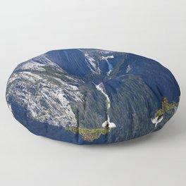 Vernal Falls And Nevada Falls Floor Pillow