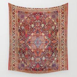 Antique Persian Kashan Dabir Rug Print Wall Tapestry