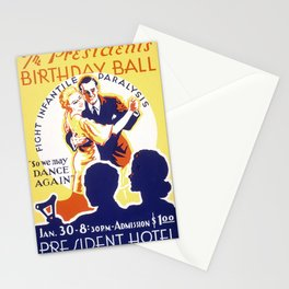 Vintage American WPA Poster - The President's Birthday Ball (1939) Stationery Cards